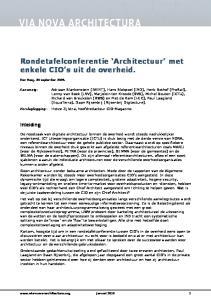 Rondetafelconferentie Architectuur met enkele CIO s uit de overheid
