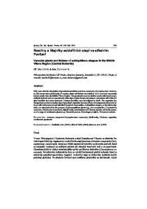 Rostliny a lišejníky acidofilních stepí ve støedním Povltaví