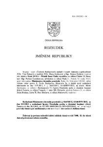 ROZSUDEK JMÉNEM REPUBLIKY