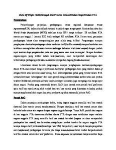 Rules Of Origin (RoO) Sebagai Alat Proteksi Industri Dalam Negeri Dalam FTA