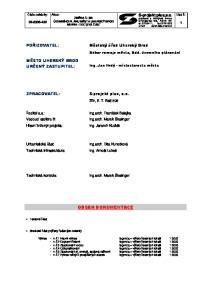 S-projekt plus,a.s. projektová a inženýrská činnost tř.tomáše Bati 508, Zlín tel , fax: