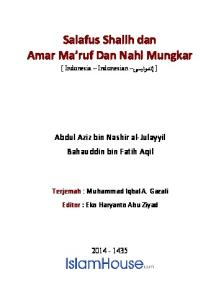 Salafus Shalih dan Amar Ma ruf Dan Nahi Mungkar