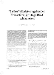 Salduz bij niet-aangehouden verdachten: de Hoge Raad schiet tekort