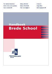 SAM. Titel: Handboek Brede School. Oplage: 500 ex. Telefoon: