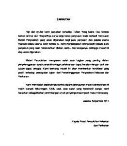 SAMBUTAN. Jakarta, Nopember Kepala Pusat Penyuluhan Kelautan dan Perikanan