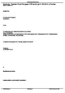 Sambutan Presiden RI pd Peringatan HPS ke-33, tgl 31 Okt 2013, di Sumbar Kamis, 31 Oktober 2013