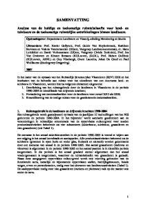 SAMENVATTING. Opdrachtgever: Departement Landbouw en Visserij, afdeling Monitoring en Studie