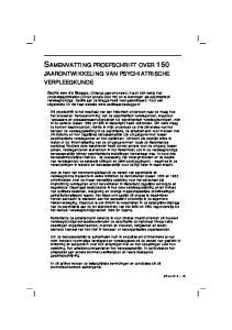 SAMENVATTING PROEFSCHRIFT OVER 150