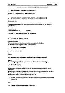 SAMENVATTING VAN DE PRODUCTKENMERKEN 2. KWALITATIEVE EN KWANTITATIEVE SAMENSTELLING