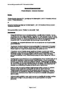 Samenwerkingsovereenkomst. FrieslandCampina - Gemeente Amersfoort