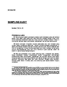 SAMPLING AUDIT. SA Seksi 350. Sumber: PSA No. 26