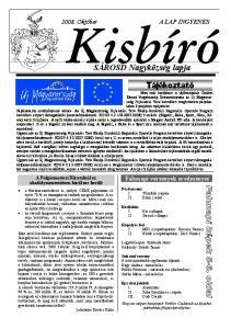 SÁROSD Nagyközség lapja