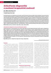 Schizofrenie: diagnostika a současné terapeutické možnosti