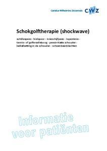 Schokgolftherapie (shockwave)