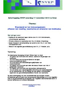 Scholingsdag NVKP zaterdag 21 november 2000 te Arnhem. Thema: