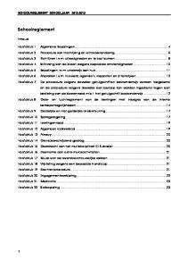 Schoolreglement. Inhoud