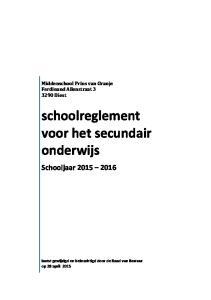 schoolreglement voor het secundair onderwijs