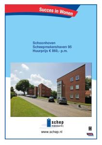 Schoonhoven Scheepmakershaven 95 Huurprijs 860,- p.m