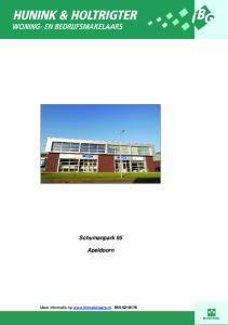 Schumanpark 95. Apeldoorn. Meer informatie op
