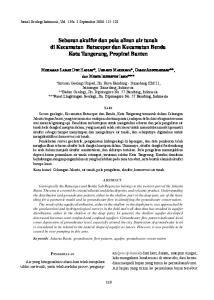 Sebaran akuifer dan pola aliran air tanah di Kecamatan Batuceper dan Kecamatan Benda Kota Tangerang, Propinsi Banten