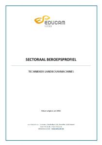 SECTORAAL BEROEPSPROFIEL