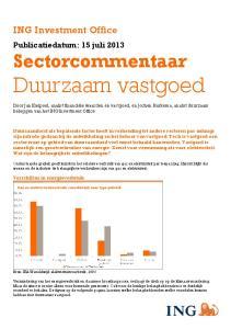 Sectorcommentaar. Duurzaam vastgoed