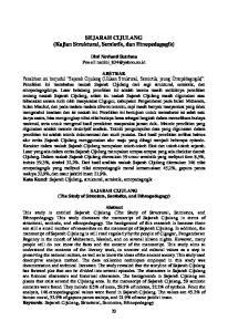 SEJARAH CIJULANG (Kajian Struktural, Semiotik, dan Etnopedagogik)