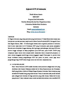 Sejarah KTP di Indonesia