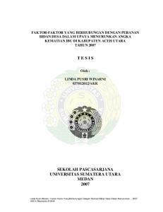 SEKOLAH PASCASARJANA UNIVERSITAS SUMATERA UTARA MEDAN 2007