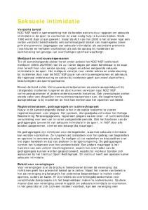 Seksuele intimidatie Versterkt beleid Meldpunt en vertrouwenspersonen Registratiesysteem, gedragsregels en tuchtrechtspraak Beleid voor verenigingen