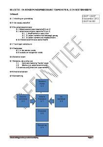 SELECTIE- EN BENOEMINGSPROCEDURE TEAMCHEFS B, C EN SECTORHOOFD