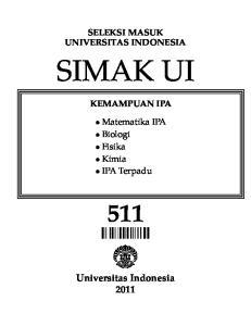 SELEKSI MASUK UNIVERSITAS INDONESIA