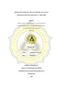 SELEKSI PEMASOK BOX DENGAN METODE ANALYTICAL HIERARCHY PROCESS (AHP) PADA CV. SIMATRIK