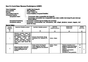 Sem 5-4. Garis Besar Rencana Pembelajaran (GBRP)