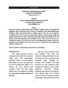 SEMANGAT BUSHIDO DALAM NOVEL KARYA EIJI YOSHIKAWA (Kajian Analisis Isi)