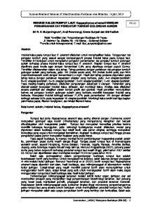 Seminar Nasional Tahunan IX Hasil Penelitian Perikanan dan Kelautan, 14 Juli 2012