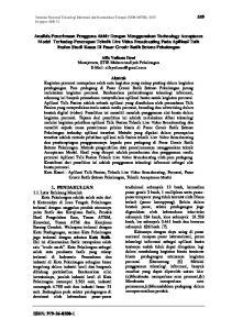 Seminar Nasional Teknologi Informasi dan Komunikasi Terapan (SEMANTIK) 2015 Id paper: SM132