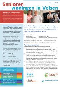 Senioren. woningen in Velsen. November Woningen in Velsen geschikt voor senioren