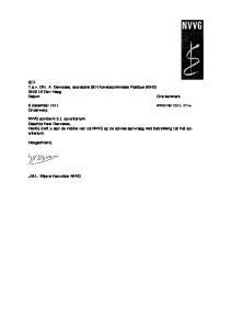 SER T.a.v. Dhr. A. Devreese, secretaris SER Adviescommissie Postbus LK Den Haag