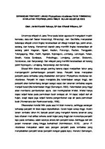 SERANGAN PENYAKIT LANAS Phytopthora nicotianae PADA TEMBAKAU DI WILAYAH PROPINSI JAWA TIMUR BULAN AGUSTUS 2013