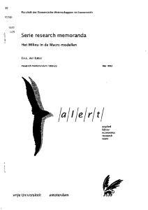 Serie research memoranda