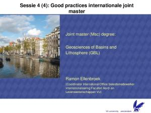 Sessie 4 (4): Good practices internationale joint master