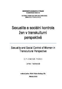 Sexualita a sociální kontrola žen v transkulturní perspektivě