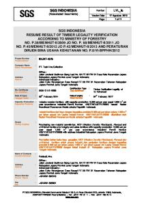 SGS INDONESIA (Associated Documents)