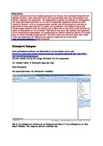 Sharepoint Designer. Een website maken in Sharepoint gaat als volgt: Start Sharepoint. Het openingsvenster van Sharepoint verschijnt