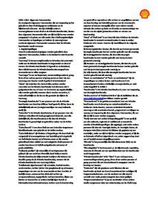 SHELL CARD Algemene Voorwaarden Begripsbepalingen