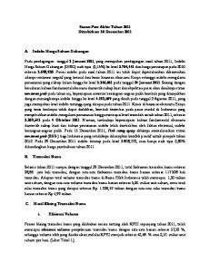 Siaran Pers Akhir Tahun 2011 Diterbitkan: 30 Desember 2011
