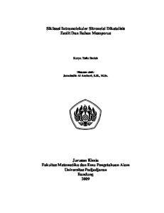 Siklisasi Intramolekuler Sitronelal Dikatalisis Zeolit Dan Bahan Mesoporus
