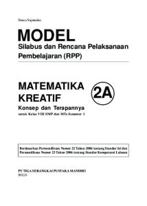 Silabus dan Rencana Pelaksanaan Pembelajaran (RPP)