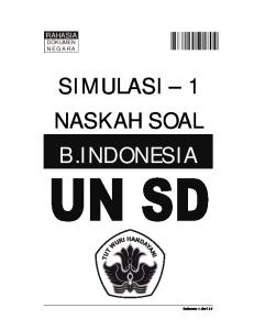 SIMULASI 1 NASKAH SOAL B.INDONESIA